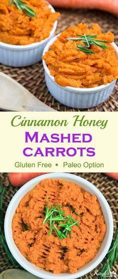 Cinnamon Honey Mashed Carrots
