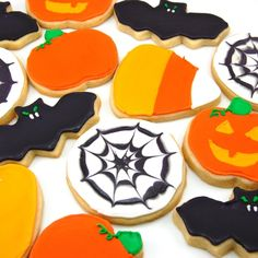 Halloween Sugar Cookies. #recipe for cookies and icing (apparently the best ever).
