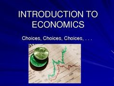 This PowerPoint is a comprehensive introduction the study of economics. It examines:  • the 5 economic questions  • what are resources  • needs and wants  • choice  • the economic problem  • opportunity cost  • factors of production  • the production process  • circular flow of income  • comparative economics  • economic systems  • famous economists  • labor  65 slides in total.