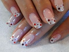 cute polka dot french manicure nails