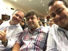 Com Ademar Alves, diretor comercial da PC e o diretor de implantação, Paulo Marques