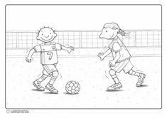 Thema voetbal : kleurprent
