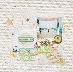 #HeidiSwapp #NSD Hello Today layout by Maggie Massey #heidiswappatmichaels