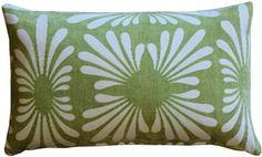 The Velvet Daisy Green rectangular pillow features a subtle daisy pattern in white contrasted against a soft green velvet background. Green Throw Pillows, Toss Pillows, Accent Pillows, Decorative Throw Pillows, Green Home Decor, Daisy Pattern, Green Accents, Green Velvet, Lumbar Pillow