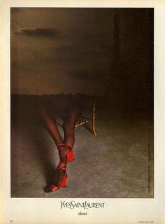 1983 - Yves Saint Laurent shoes adv