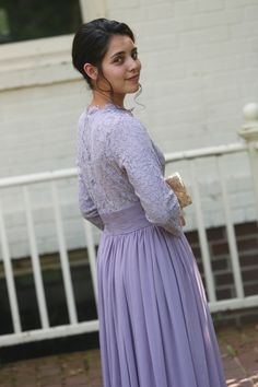 modest fashion, modest bridesmaid dresses, modest clothing, modest dresses, modest skirt, modest top, modest apparel, hijab, long sleeves, 3/4 sleeves, modest swimwear, ruffles and lace, long dress, modest swimsuit, bow dress, lace dress, elegant, victorian, vintage, bridesmaid, wedding, flower girl, plus size, lilac lace Exquisite English Manor Dress