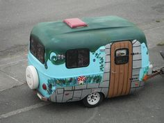 Ok now I want to know what my parents did with their first camper.  So cool!
