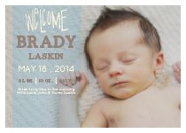 The Transparent Headliner Birth Announcements by Basic Invite