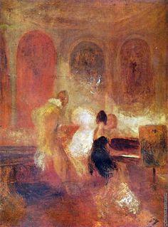 Partie de musique - William Turner 1835 huile sur toile Une sorte de trinité picturale. Extra good !