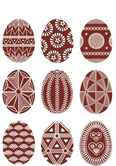 Pisanki - the decorated Easter eggs in Poland Here you'll find informations about Polish pisanki (decorated Easter eggs): Short history 8 types of Polish Easter eggs Patterns Gallery of Polish pisanki Egg Crafts, Easter Crafts, Diy And Crafts, Polish Easter, Easter Egg Pattern, Carved Eggs, Easter Egg Designs, Ukrainian Easter Eggs, Diy Ostern