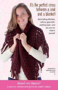 Wrap up in this DIY shawl you can knit or crochet!