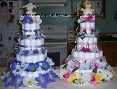 Girl Baby Shower Themes   How To Make A Diaper Cake For A Baby Shower