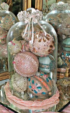 Beaded, Sequined, and Sparkled Vintage Christmas Ornaments