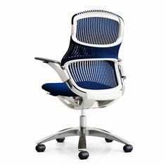 Understanding that sitting still and looking forward is just one of the ways to sit, we introduced Generation by Knoll®, the ergonomic chair that moves with you. Contemporary Office, Contemporary Furniture, Knoll Chairs, Adirondack Chair Plans Free, Small Living Room Chairs, Work Chair, Home Office Chairs, Office Furniture, Office Set