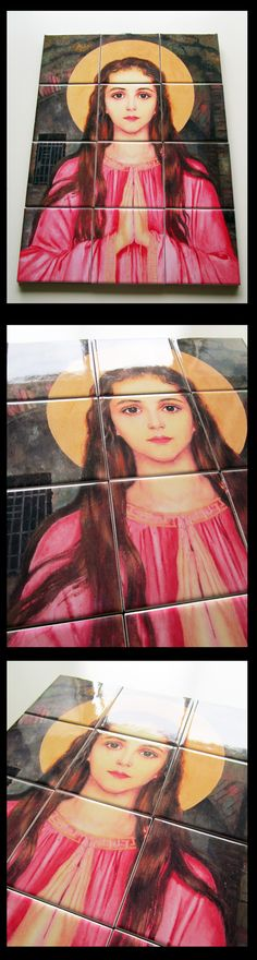 My new #catholic wall art / mosaic - St #Philomena You find it here: https://www.etsy.com/listing/243520702/saint-philomena-of-rome-wall-art-mosaic READY TO HANG - FREE SHIPPING - ONLY US$ 99
