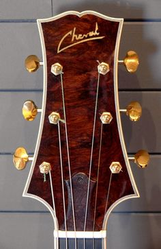 Cheval Guitars Orville Artisan headstock