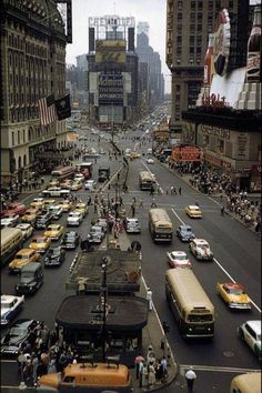 Times Square - 1958. Photograph by Paul Slade.