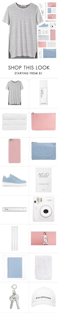 """""""work with me... [TOP SET]"""" by cinnamon-and-cocoa ❤ liked on Polyvore featuring T By Alexander Wang, NARS Cosmetics, Christy, Alexander McQueen, Miss Selfridge, NIKE, Fuji, Lazy Oaf, Nordstrom and Balenciaga"""