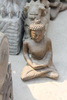 Stone meditating Buddha from Beijing, China
