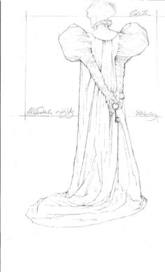 "This image provided by Legendary Pictures and Universal Pictures shows a sketch by costume designer Kate Hawley of the costume for the character Edith Cushing played by Mia Wasikowska for Legendary Pictures' ""Crimson Peak,"" a gothic romance from director, Guillermo del Toro. (Kate Hawley/Legendary Pictures and Universal Pictures via AP) Photo: Kate Hawley, AP / Legendary Pictures and Universal Pictures"