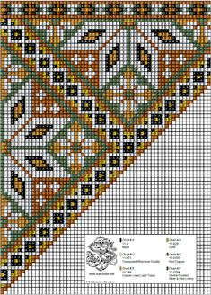 Bunad, Smykker, vev & rosemaling: Bringeduk i kobber-toner og mosegrønt. Folk Embroidery, Cross Stitch Embroidery, Cross Stitch Patterns, Embroidery Designs, Needlepoint Pillows, Needlepoint Designs, Loom Beading, Beading Patterns, Scandinavian Embroidery