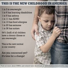 """Children Obesity The new normal for American children is unacceptable! Cancer, obesity, behavior issues- we all need to find ways to change this. """"Be the change that you wish to see in American Children, Question Everything, The New Normal, Seizures, Learning Disabilities, Health Problems, Adhd, Fun Facts, Crazy Facts"""