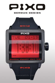 PX-1, Digital Flip Watch, A-Design Award 2014 (Italy). With special scrolling digits display and one-crown control (patent pending), Please see the details at : http://www.pixowatch.com/PIXO-PX-1