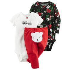 online shopping for Carter's Baby Girls' 3 Piece Back Art Red, from top store. See new offer for Carter's Baby Girls' 3 Piece Back Art Red, Carters Baby Boys, Baby Kids, Cute Baby Girl, Cute Babies, Baby Girl Fashion, Kids Fashion, Baby Boy Outfits, Kids Outfits, Cute Baby Clothes