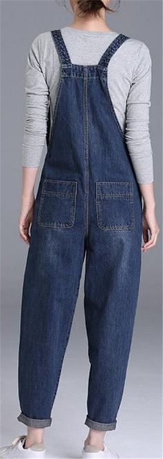 Cromoncent Womens Plus Size Baggy Bib Harem Pant Denim Jumper Overalls Blue XXL >>> Make certain to take a look at this remarkable product. (This is an affiliate link). Denim Jumper, Dress Pants, Overalls, That Look, Plus Size, Link, Blue, Clothes, Dresses