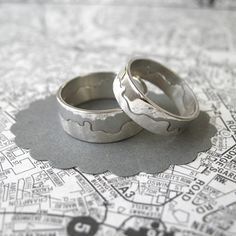 River Thames Ring 8mm   Contemporary Rings by contemporary jewellery designer Hannah Louise Lamb