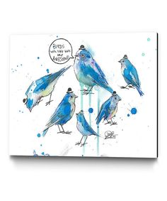 Look at this Birds with Hats Canvas Wrapped Canvas on #zulily today!