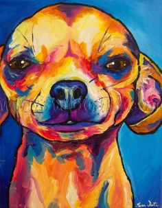 Effective Potty Training Chihuahua Consistency Is Key Ideas. Brilliant Potty Training Chihuahua Consistency Is Key Ideas. I Love Dogs, Cute Dogs, Chihuahua Art, Black Chihuahua, Arte Pop, Dog Portraits, Animal Paintings, Dog Art, Illustration