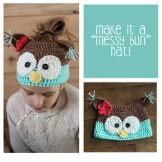 Make  It a Messy Bun Hat - Toddler and Youth Size