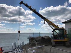 TCA Lifting - Maeda LC785 crawler crane working on a coastal path in Hampshire