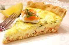 Smoked Salmon & Cream Cheese Quiche Recipe │Make this easy yet elegant quiche for a wedding shower, baby shower or brunch with your girlfriends! Smoked Salmon Quiche, Smoked Salmon Cream Cheese, Bbc Good Food Recipes, Gourmet Recipes, Beef Recipes, Tastefully Simple Recipes, Cheese Quiche, Quiche Recipes, Salmon Recipes