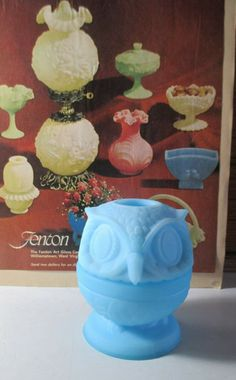 Cute fairy lamp from the Almost five inches tall with no damage. Fairy Lamp, Cute Fairy, Blue Satin, Lamp Light, Glass Art, Owl, Make It Yourself, Vintage, House