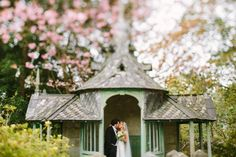 Beautiful Wedding Photography in the garden at Chateau Rhianfa in Anglesey