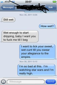 Dirty text convo