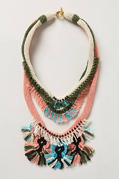 """This statement necklace was the only item in the """"60's"""" category of How To Dress Your Age...& LOVE It #refinery29 that is me - and I'm actually a decade beyond!  The whole segment was dreary except for a yellow bag!"""