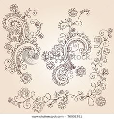 Henna. Practice for swirls and paisleys.