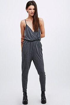 e6eef6468e88 Silence + Noise - Combi-pantalon chiné gris Urban Outfitters