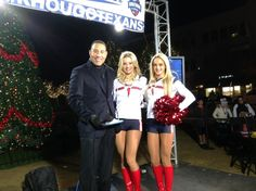 KHOU 11 Sports Anchor interviews the Texans Cheerleaders during 'Countdown to Kickoff' in The Woodlands.