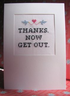 Subversive Cross Stitch Valentine Card Kit by subversivejewels, $8.00
