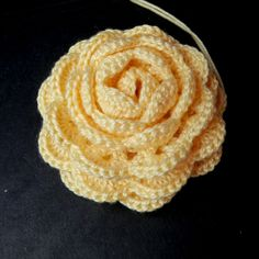 Rolled up crochet rose, right side