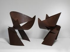 JETSON CHAIRS, Oxidized steel