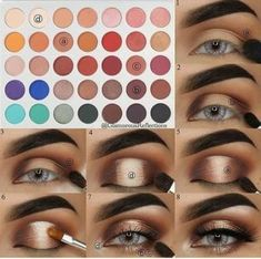 Makeup tips and tricks younique eye shadows super ideas Make-up Tipps und Tricks younique Lidschatten super Ideen Makeup Eye Looks, Eye Makeup Steps, Eye Makeup Art, Makeup For Brown Eyes, Smokey Eye Makeup, Glam Makeup, Makeup Inspo, Eyeshadow Makeup, Makeup Tips