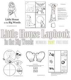 Free Little House in the Big Woods Lapbook