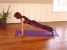 Jump start energy by doing planks.