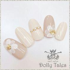 White flower nail
