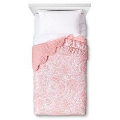 Birds Scalloped Edge Quilt - Pillowfort™ - DAYDREAM PINK
